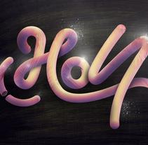 Holi-Lettering/ilustración. Um projeto de Design, Ilustração, Design gráfico, Tipografia e Arte urbana de Emilio Rodriguez Gonzalez         - 22.02.2017