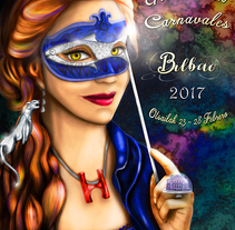 Cartel carnavales de Bilbao 2017. A Design, Illustration, Animation, Art Direction, Character Design, Editorial Design, Fine Art, Graphic Design, Marketing, Packaging, Painting, Comic&Infographics project by Isabel Sebastián         - 24.02.2017