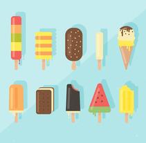 Ilustración vectorial helados. Un proyecto de Ilustración de Ana  Sansó - 01-05-2016