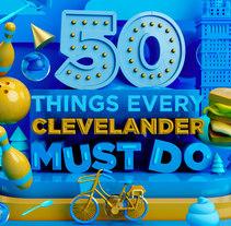 CLEVELAND MAGAZINE. Un proyecto de Diseño, Ilustración, 3D y Dirección de arte de Aarón Martínez - 18-03-2017
