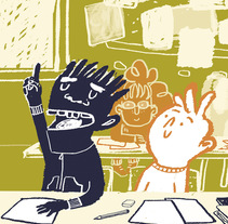 Traffic lesson | Textbook illustration. Un proyecto de Ilustración, Diseño editorial y Educación de Mónica Toledo - 28-03-2017