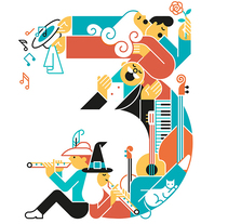 Music numbers. A Illustration, Editorial Design, and Graphic Design project by Carlos Arrojo         - 03.04.2017
