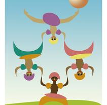 Circo: danzantes, funambulistas, equilibristas... . A Illustration project by Almudena López         - 03.04.2017
