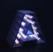 Mi Proyecto del curso: Lettering 3D: modelado y texturizado con Cinema 4D. Um projeto de 3D, Design gráfico e Lettering de Berta Terrassa Gomar         - 03.04.2017