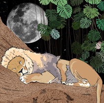 Canción dibujada: The Lion Sleeps Tonight. Un proyecto de Ilustración de Rafael Forteza - 04-04-2017