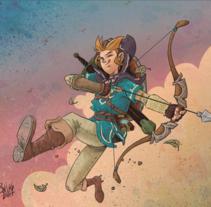 The Legend of Zelda. Un proyecto de Ilustración de KIKE J. DÍAZ - 06-04-2017