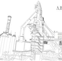 Industrial heritage from Bilbao illustrations / Ilustraciones del patrimonio industrial de Bilbao. Um projeto de Ilustração de Ana Margarita Martinez Roa         - 19.04.2017