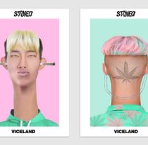 Stoned – Viceland. Un proyecto de Publicidad, Motion Graphics, Animación, Diseño gráfico, Vídeo y Televisión de Yarza  Twins  - 20-04-2017