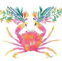 """""""Sealife"""" la vida marina desde mi punto de vista. Un proyecto de Ilustración, Bellas Artes, Diseño gráfico y Pintura de Tània García Jiménez - 24-04-2017"""
