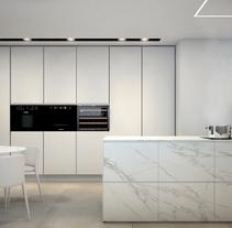 Reforma de vivienda en LA FINCA, Madrid.. Un proyecto de Diseño, 3D, Diseño de muebles, Arquitectura interior, Diseño de interiores e Infografía de Bruno Lavedán - 25-04-2017