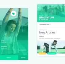 HealthyLife. Um projeto de UI / UX de Jokin Lopez         - 26.04.2017
