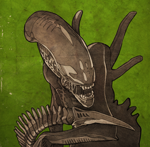 Poster Alien. A Illustration, and Graphic Design project by Rubén Megido         - 26.04.2017