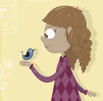 Girl and Bird. Un proyecto de Diseño, Ilustración e Ilustración vectorial de Irene Ibáñez Gumiel - 27-04-2017
