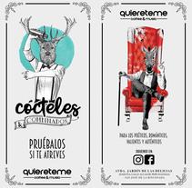Carta Cócteles para Quiéreteme. Um projeto de Design, Br, ing e Identidade e Design gráfico de Alexandre Escalona Rocha         - 11.05.2017