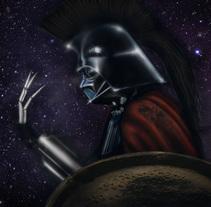 Vader Cylon Espartano. A Design, Illustration, Character Design, Costume Design, Collage, and Film project by La Pi  - 16-05-2017