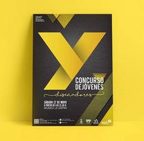 """Cartel ganador Concurso """"Y"""" Jóvenes Diseñadores. A Graphic Design project by Wualá! Diseño Gráfico         - 19.05.2017"""