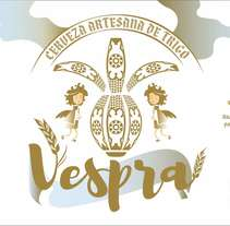 Vespra. Cerveza artesana de trigo.. A Design, Illustration, Graphic Design, and Product Design project by Freevan          - 27.05.2017