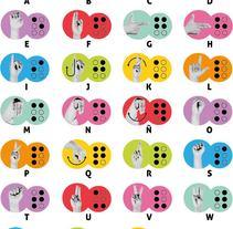 Cartel Señas y Braille. Un proyecto de Diseño gráfico, Diseño de iconos y Diseño de pictogramas de Diana Figueroa López - 20-06-2016