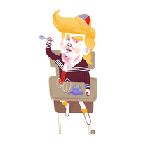 Trump. A Illustration project by Dani Maiz         - 02.06.2017