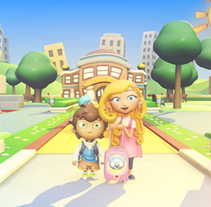 Nina & Kiko. Un proyecto de Diseño, Cine, vídeo, televisión, 3D, Animación, Caligrafía, Vídeo, Televisión y Animación de personajes de Enrique Puga - 05-06-2010