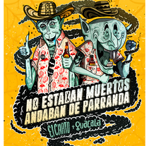 !!!! NO ANDABAN MUERTOS ANDABAN DE PARRANDA ¡¡¡¡¡. A Illustration project by Sebastian Sanchez         - 06.06.2017