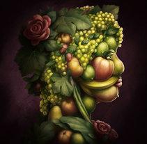 Retrato vegetal estilo Arcimboldo. Um projeto de Ilustração e Artes plásticas de Juan Muñoz         - 07.06.2017