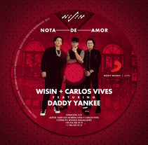 Stomper : Nota de amor - Wisin + Carlos Vives Ft. Daddy Yankee. A Design, Illustration, Advertising, Graphic Design, Street Art, and Digital retouching project by Gustavo Chourio         - 08.06.2017