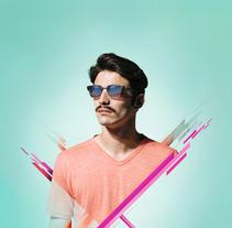 Óptica Universitaria -Munich Sunglasses-. Un proyecto de Dirección de arte, Diseño gráfico y Lettering de Sergi Ferrando - 08-06-2017