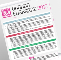 Okondo euskeraz cartel. A Graphic Design project by Beatriz Camargo - 12-06-2015