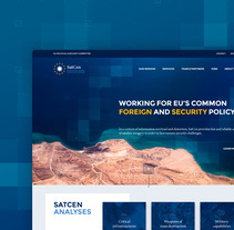 SatCen - European Union Satellite Centre. A Art Direction, Interactive Design, and Web Design project by Jimena Catalina Gayo         - 01.05.2017