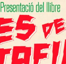Cartell presentació del llibres escrits per Sergi Pons Codina 'Dies de Ratafia' i 'Mars del Carib' editas i publicats per Edicions 84. Un proyecto de Diseño de David Alcaide Negre         - 03.07.2017