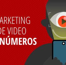 Mi Proyecto del curso: Infografía antibostezos. Mi proyecto es una infografía con números sobre el impacto de los videos en las estrategías de Marketing digital.. Un proyecto de Diseño de armando_studiocero         - 14.07.2017