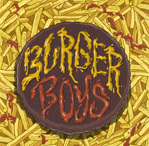 Burger Boys. A Illustration, Character Design, Comic, and Lettering project by Marta Fernández         - 17.07.2017