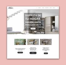 DISEÑO WEB - Expomuebles Villabaso. Um projeto de Web design de Lorea Espada         - 10.07.2017