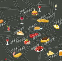 Mapa ilustrado del Barrio Húmedo de León. Um projeto de Design gráfico de Ángel de Marcos López         - 27.07.2017