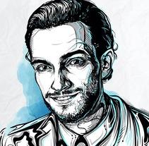 Retrato Charlie Cancino. Un proyecto de Diseño e Ilustración de Roberto Soriano         - 24.07.2017