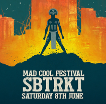 SBTRKT Mad Cool Poster. A Design, Illustration, Music, and Audio project by Oscar Giménez - 31-07-2017