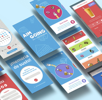 Aim Going. A Design, UI / UX, Art Direction, and Vector illustration project by Ana Cobos Escalante         - 03.08.2017