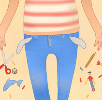 'El peso en sus bolsillos', Patricia Ruiz de Mingo (2016). Um projeto de Ilustração de Julia Mora Crespo         - 30.06.2016