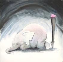 El elefante encadenado. Jorge Bucay. Um projeto de Ilustração de Dacil Velázquez         - 25.08.2017