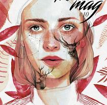 Portada Revista digital (Kluid Magazine). Un proyecto de Diseño, Ilustración y Bellas Artes de Ana Santos - 25-08-2017