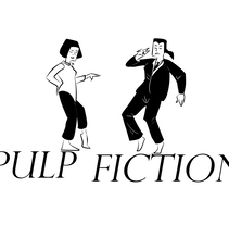 Pulf Fiction. A Illustration project by sarahwiththeh         - 29.08.2017