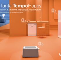 Escena 3D ENDESA Tempo Happy. Para medios impresos nacionales.. A 3D project by Miguel Angel Calvo         - 02.03.2017