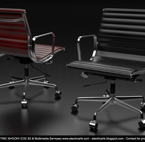 Sillas Roja & Negra CGI 3D. Um projeto de Design, 3D, Arquitetura, Design de móveis, Design industrial, Arquitetura de interiores, Design de interiores, Multimídia e Infografia de Ivan C         - 03.09.2017