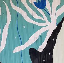 """Mural para """"ZOES"""" barrio del Oeste (Salamanca).. Un proyecto de Ilustración y Arte urbano de SOFÍA  ALMAZÁN GAZOL - 08-09-2017"""