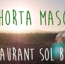 Spot Horta Masó. A Photograph, Film, Video, TV, Art Direction, Multimedia, and Video project by Mariona Grau Moré         - 16.08.2016