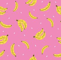 Banana Print . Un proyecto de Diseño, Ilustración, Diseño de producto e Ilustración vectorial de Raquel Sarabia Ruda - 14-09-2017