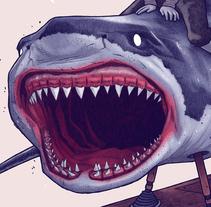 JUMPING THE SHARK. Um projeto de Ilustração de Dani Blázquez         - 19.09.2017