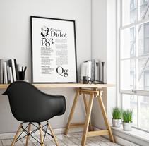 Espécimen tipográfico: Didot. Un proyecto de Diseño, Diseño gráfico y Tipografía de Anna Escofet         - 03.10.2017
