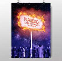 """Papa Roach: """"The fire"""". Um projeto de Design gráfico de Noir  Design         - 04.10.2017"""